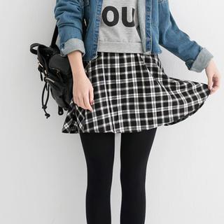 Elastic-Waist Plaid A-Line Skirt - Tokyo Fashion | YESSTYLE