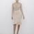 RHONDA Fish Tail Midi Bodycon Skirt in Nude at FLYJANE