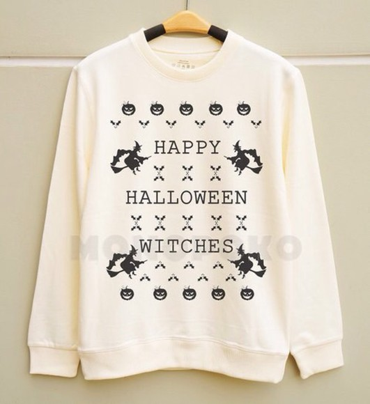 funny sweater quote on it halloween fall sweater pumpkin print fashion oversized sweater