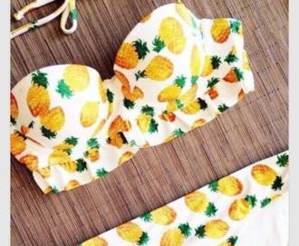 swimwear ananas white swimwear