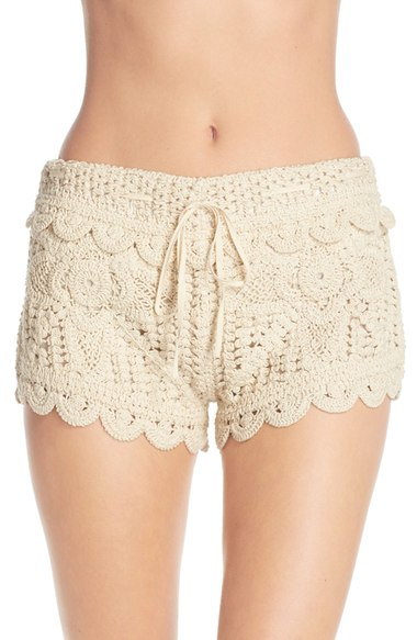 Surf Gypsy Crochet Cover-Up Shorts   Nordstrom