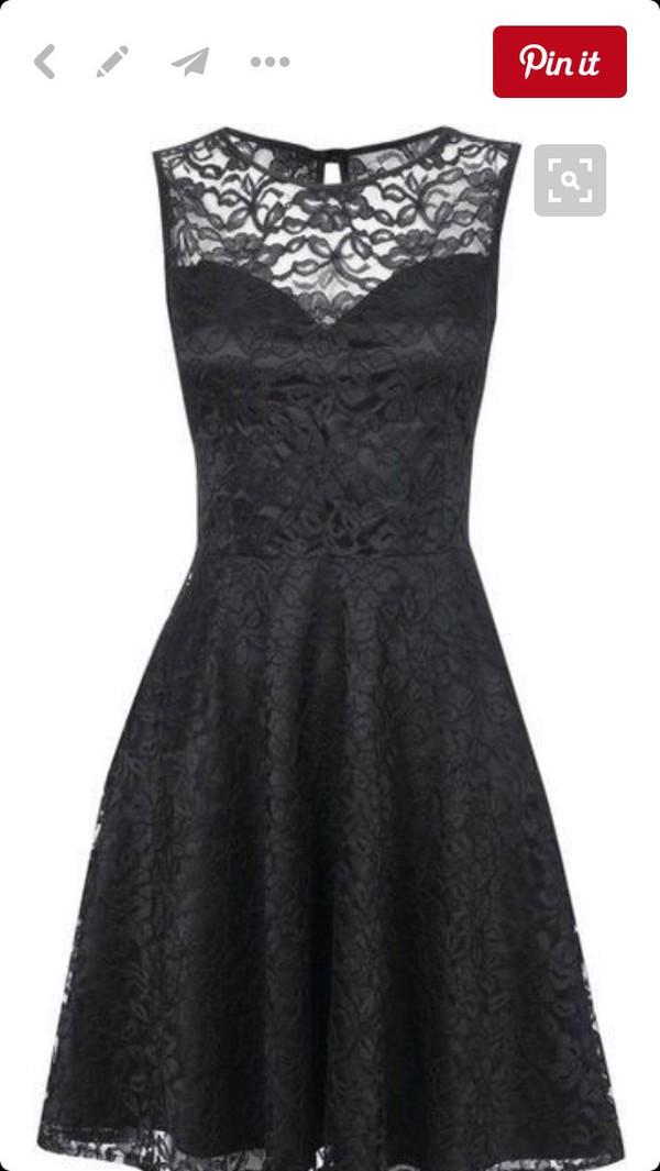 Платье Черное С Кружевами