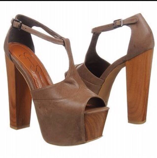 Jessica simpson womens shoes dany platform heels coffee summer haze shoes sz 10