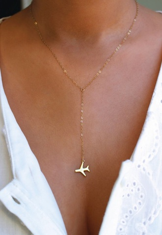 jewels necklace plane gold