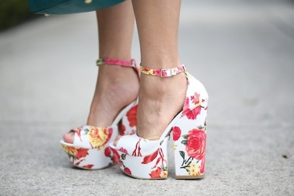 shoes heels floral floral heels high heels cute platform shoes