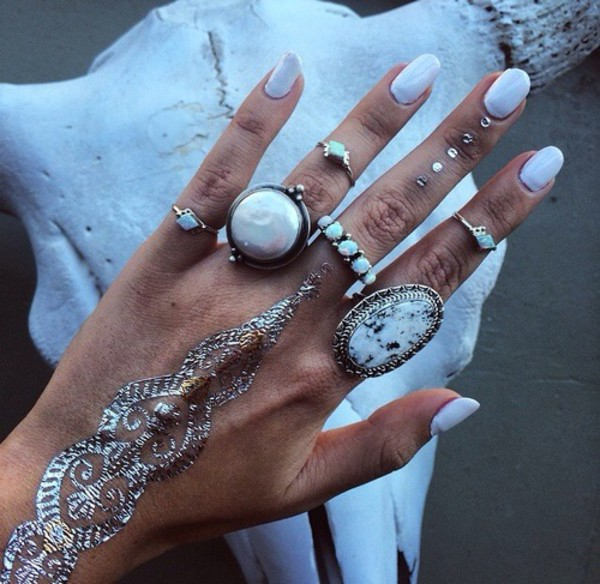 jewels ring knuckle ring white jewels