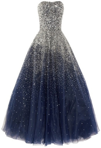 dress jewels prom long pretty beautiful blue midnight navy sky evening dress midnight blue pll ice ball