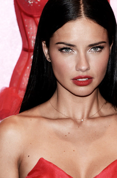 jewels necklace single diamond victoria's secret adriana lima