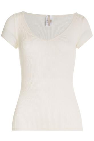 t-shirt shirt silk white top