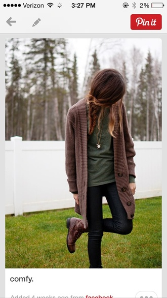 cardigan cute top fall sweater fashion love chilly omg so cute brunnette indian boots boots nature