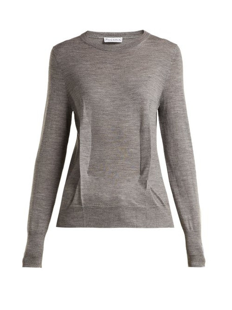sweater knitted sweater wool grey