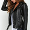 Jacket: zaful leather leather black motorcycle alternative alternative rock zip hipster urban faux