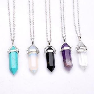 jewels quartz tumblr necklace