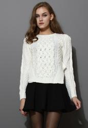 sweater,beaded,embellished,knitwear,white