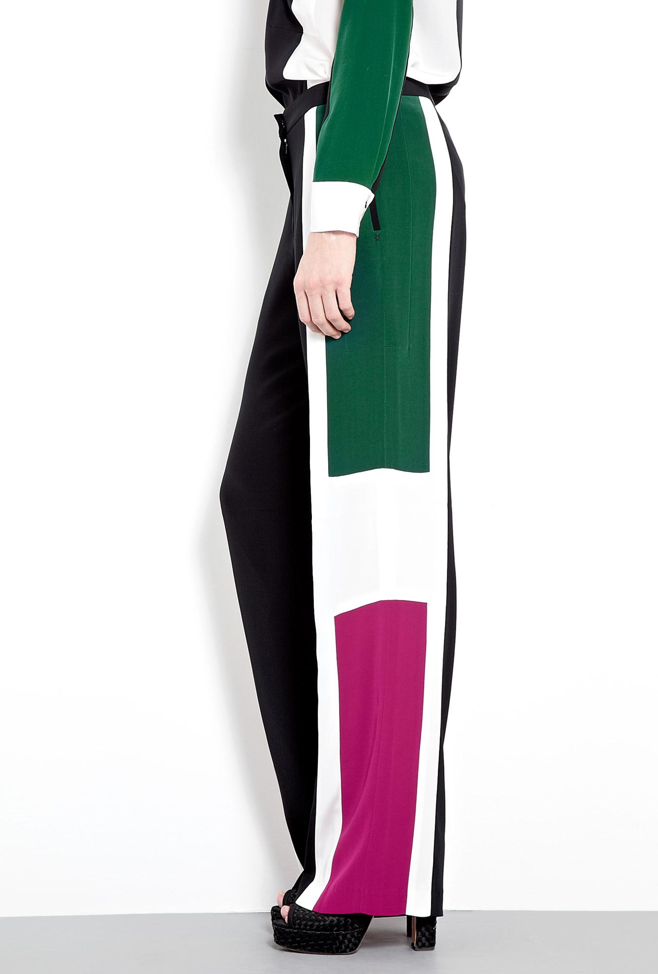 Landon Colourblock Wide Leg Trousers by Elizabeth & James