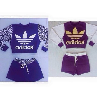 top adidas jumper shorts crop tops belly top sweats leaopard crop top two-piece