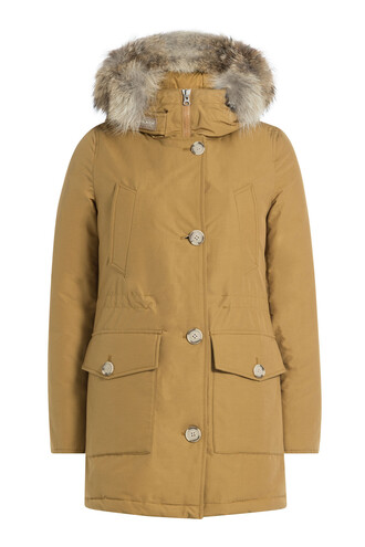 parka fur brown coat