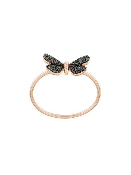 Astley Clarke rose gold rose women ring gold black grey metallic jewels