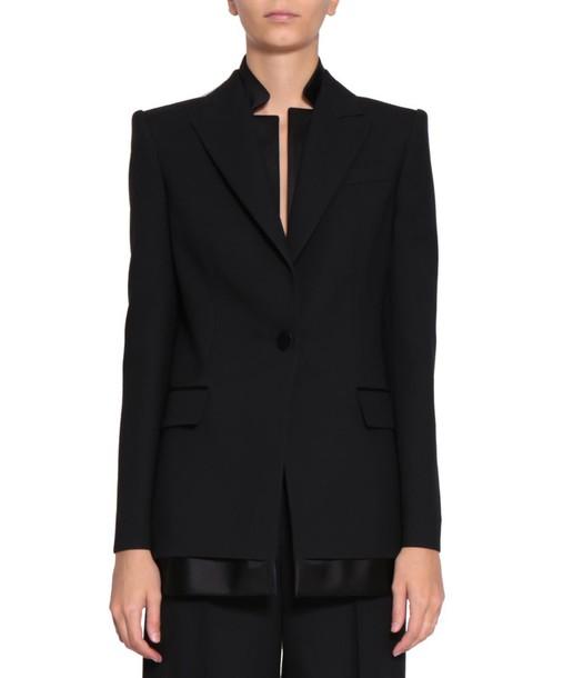 Alexander Mcqueen blazer jacket silk wool