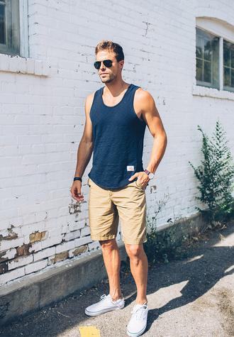 hello his blogger tank top top shorts shoes sunglasses jewels bag
