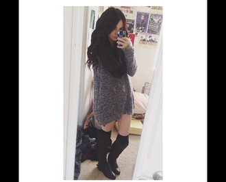 sweater grey sweater acacia brinley