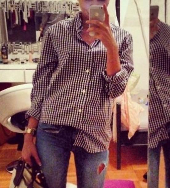 shirt black and white black white blouse