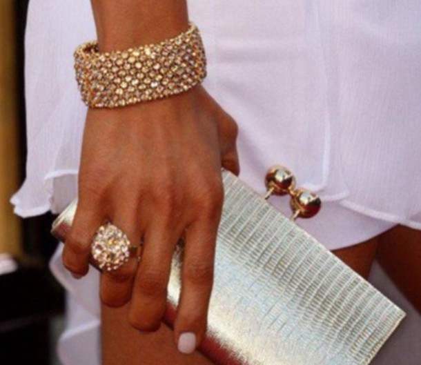 bag purse night life silver litlle jewels