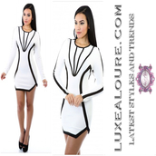dress,white,short,mini dress,diamonds,diamond dress,black,short dress,sexy,dinner,dressy,long sleeve dress,club dress,couture dress,couture