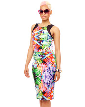 skirt,bodycon,multicolor,midi skirt,bodycon skirt