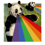 Pandas shooting rainbows out of their mouths ?! T-Shirt | Spreadshirt | ID: 12320445