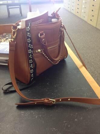 bag steve madden leather crossbody bag shoulder bag brown leather bag brown leather bag studs studded bag studded
