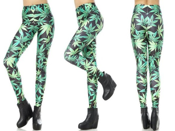 tropical print leggings pants leggings shorts green colorful fashion clothes weed instagram instagramfashion girly givenchy style