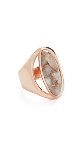 rose gold rose ring gold bronze jewels