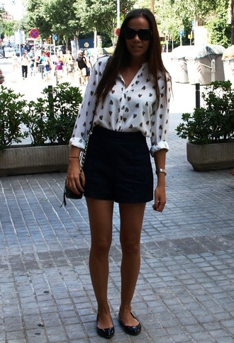 shirt see through black an white dotted dotted shirt dots blouse heart print heart print blouse heart print top black hearts blouse