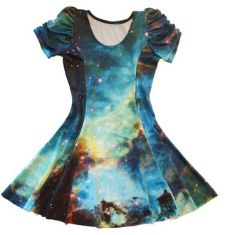 dress galaxy dress galaxy print short dress