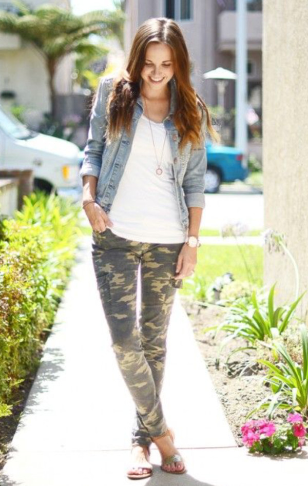 jeans camouflage camouflage white chambray faded jeans