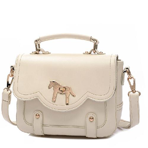 [grxjy5204191]Retro Pony Pure Color Handbag Shoulder Bag Cross Body Bag
