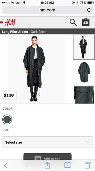 coat green skirt green jacket jacket winter coat winter swag dope long coat