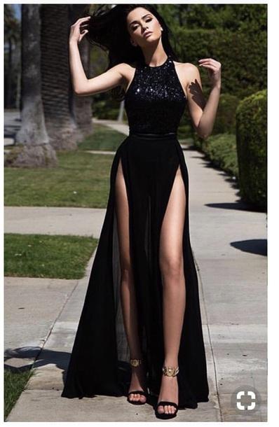 dress black dress black prom dress prom slit slit dress