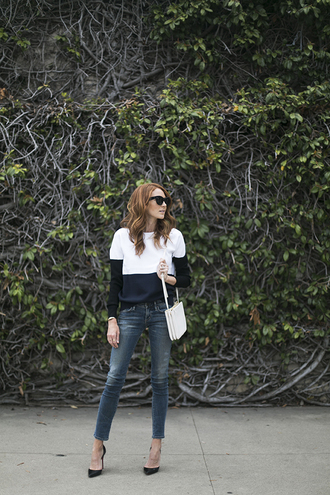 could i have that blogger sweater bag sunglasses jeans shoes