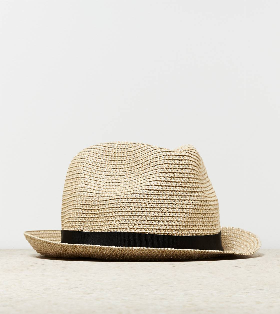AEO Metallic Straw Fedora, Natural | American Eagle Outfitters