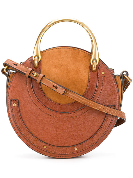 Chloe women bag tote bag leather suede brown