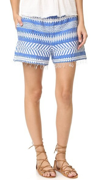 shorts embellished blue