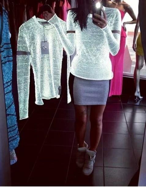 shirt t-shirt neon phosphorescent lighting glow in the dark glow in the dark top blouse white