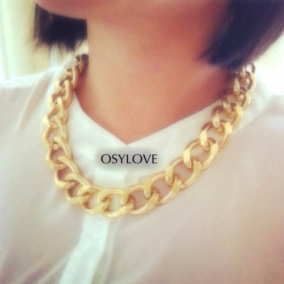 20inch chunky chain necklace by osylove on etsy