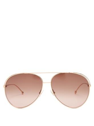 metal sunglasses copper