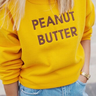 sweater food funny sweater thanksgiving peanut butter mustard mustard sweater