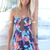 Multi Jump Suits/Rompers - Multi-Colored Floral Strapless Playsuit with | UsTrendy