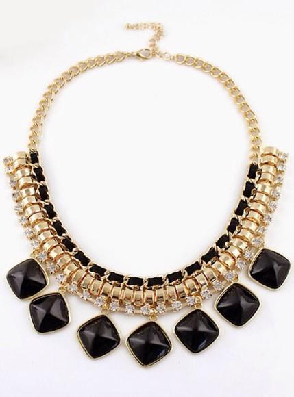 jewels diamonds gold necklace statement necklace statement piece rhinestones
