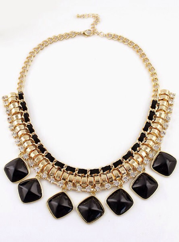 jewels necklace jewelry diamonds statement necklace statement piece gold rhinestones